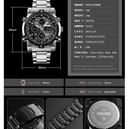 51%2BMLN8oUjL. SS500  - Skmei Mens Watches Top Brand Luxury Quartz Analog LED Digital Analog Watch Men (All Black)