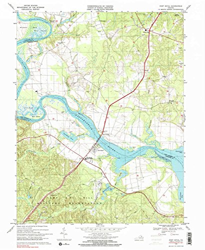 YellowMaps Port Royal VA topo map, 1:24000 Scale, 7.5 X 7.5 Minute, Historical, 1968, Updated 2000, 26.9 x 22 in - Paper ()