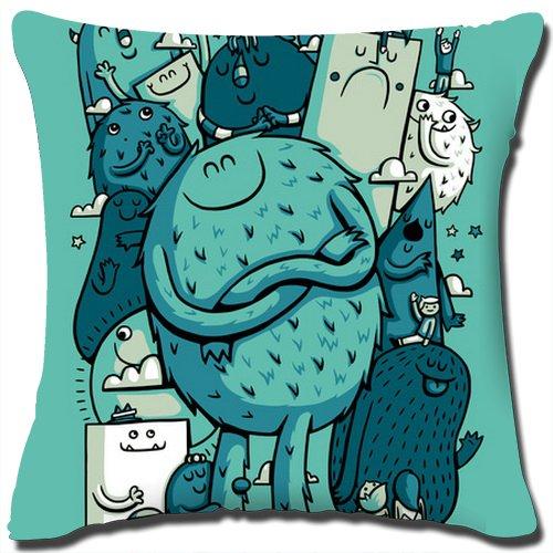 Full Love Cotton Linen Square Decorative Throw Pillow Cover