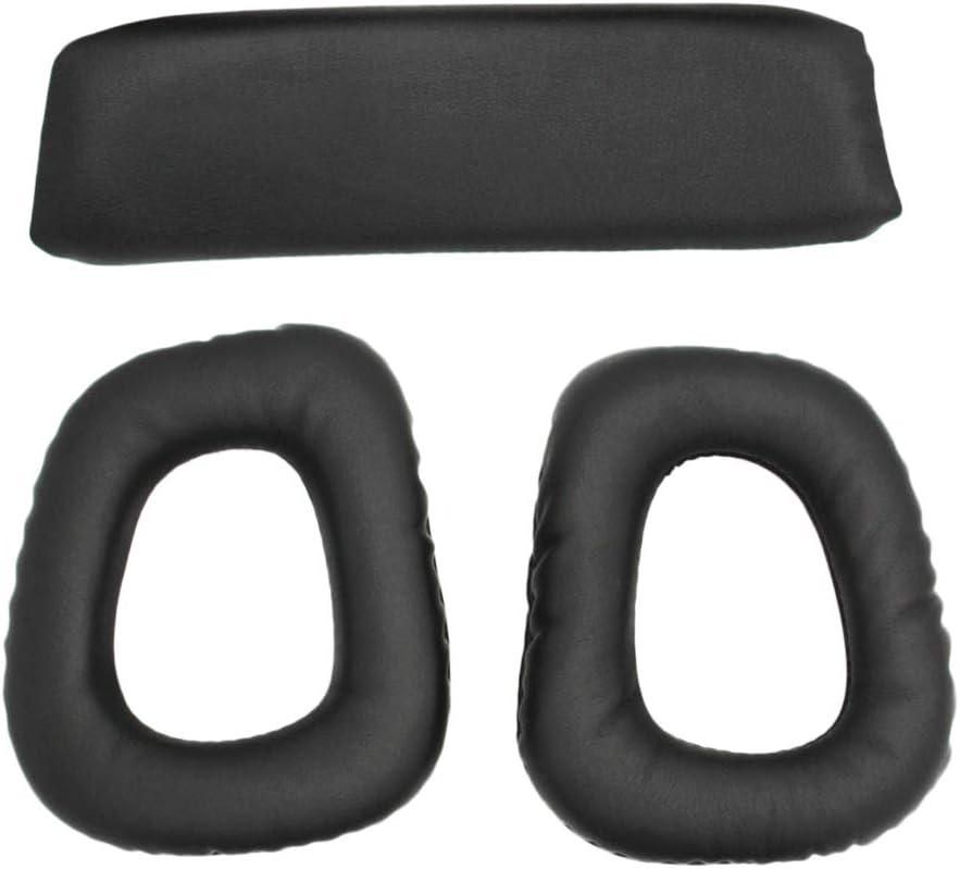 Prettyia Headphones Replacement Ear Pad//Ear Cushion//Ear Cups//Ear Cover//Earpads Repair Parts Headband Pad for Logitech G35 G930 G430 F450