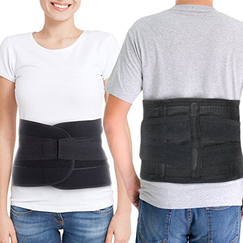 Back Brace for Lower Back Pain – Comfortable Lumbar Support Belt for Weight Lifting and Low Spine Stabilizer for Sciatica Nerve Relief or Scoliosis. Compression for Bulging Herniated Disc (Medium) by ARMSTRONG AMERIKA (Image #2)