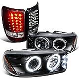 05 denali halo headlights - Gmc Yukon Denali Black Dual Halo Led Projector Headlights, Led Tail Lamps