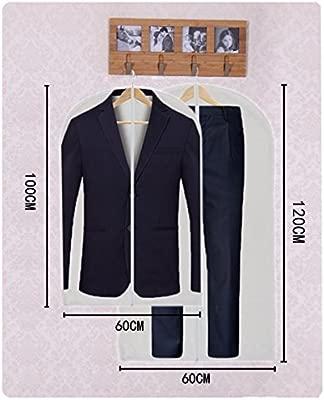 Fundas Ropa cremallera Bolsas Ropa Transparente Transpirables para Almacenaje de Traje Vestidos Abrigos Chaquetas Camisas 6PCS