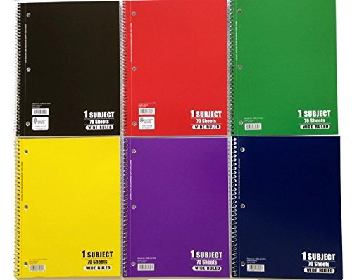70 Sheet Spiral Notebook - 2