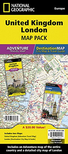 United Kingdom, London [Map Pack Bundle] (National Geographic Adventure Map)