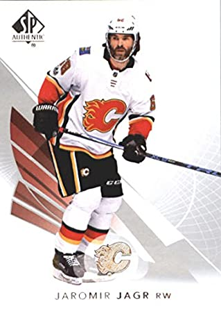 2017-18 SP Authentic  65 Jaromir Jagr Calgary Flames NHL Upper Deck Hockey  Card da3b50776