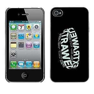 GOODTHINGS Funda Imagen Diseño Carcasa Tapa Trasera Negro Cover Skin Case para Apple Iphone 4 / 4S - cartel negro banda de música electrónica
