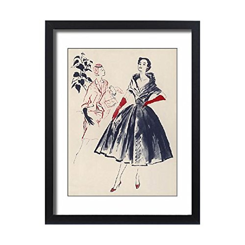 Framed 24x18 Print of Fashions for 1954 (4414229) (Gown Satin Seamed)