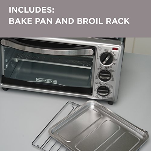BLACKDECKER-TO1313SBD-4-Slice-Toaster-Oven-Includes-Bake-Pan-Broil-Rack-Toasting-Rack-Black