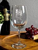 We Love Because He First Loved Us 12 Ounce Goblet, 72 Count, Personalized With Names and Date, Printed in White - Great Anniversary or Couples Gift