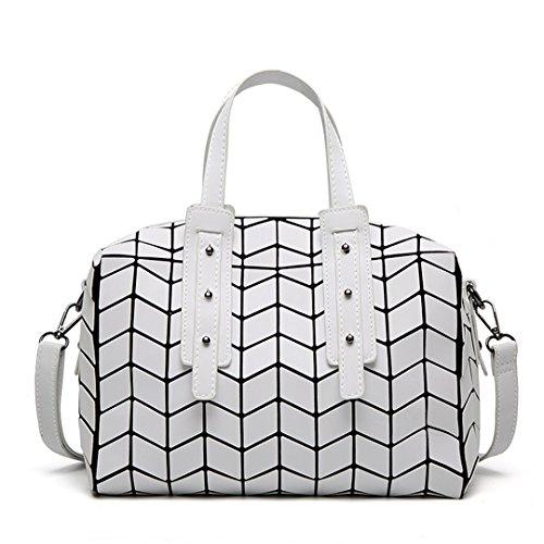 Bolsos de primavera Bolsos de mujer Bolsos de diseño Geometría de bolsos de niña Boston Shoulder Bag Crossbody brown White