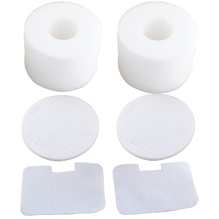 ITidyHome 2-Pack Vacuum Filter for Shark NV42 Compatible Foam & Felt Filter Kit for Shark Navigator Deluxe Upright Vacuum NV46 UV410 NV36A NV44 NV36 NV46C,Replaces Part #XFF36