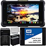 Atomos Shogun Inferno 7'' 4K HDMI/Quad 3G-SDI/12G-SDI Recording Monitor with WD Blue 500GB Sata SSD Essential Bundle - 2X Rechargeable Lithium-Ion Battery + Battery Charger + Microfiber Cleaning Cloth