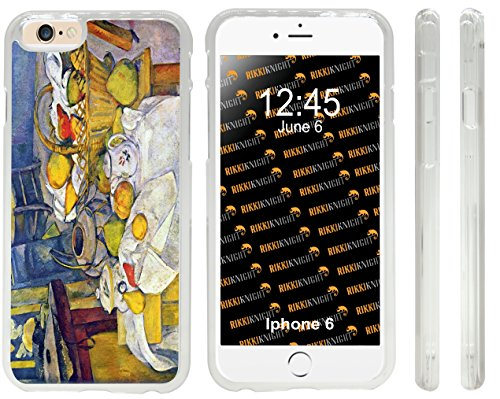 Rikki Knight Paul Cezanne Art Still Life with Fruit Basket Design iPhone 6 Case Cover-Clear (Cezanne Basket Of Apples)
