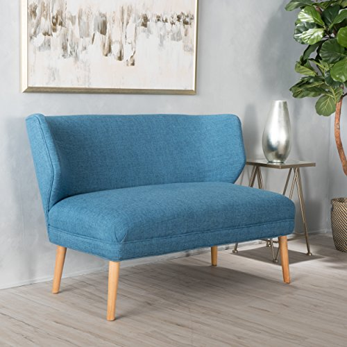 Christopher Knight Home 299389 Desdemona Muted Blue Fabric Settee,