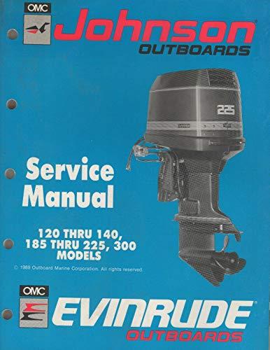 1990 OMC JOHNSON EVINRUDE OUTBOARD 120-140,185-225,250,300 SERVICE MANUAL -