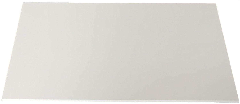 6,0mm PVC blanc env. rigide 1000x 495mm Compact PVC, PVC, thermoplastique