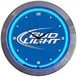Neonetics Bud Light Neon Wall Clock, 15-Inch