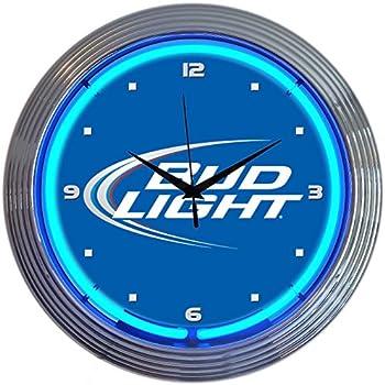 Amazon Com Neonetics Bud Light Neon Wall Clock 15 Inch