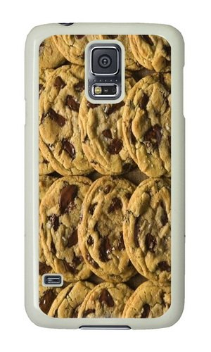 Samsung Galaxy S5 I9600 Case Color Works Yummy Chocolate Chip Cookie Phone Case Custom White PC Hard Case For Samsung Galaxy S5 I9600 Phone Case (Custom Printed Cookies)