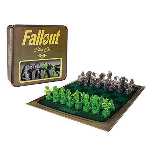 Chess Tin - Fallout Chess Set - Exclusive Tin with Holographic Pieces