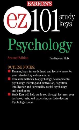 EZ-101 Psychology (EZ-101 Study Keys)
