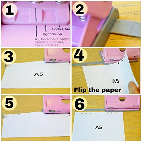 Rapesco Adjustable, 6 Hole Paper Punches (1342)