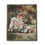 Gifts & Decor Garden Angel Spiritual Decorative Tapestry Throw