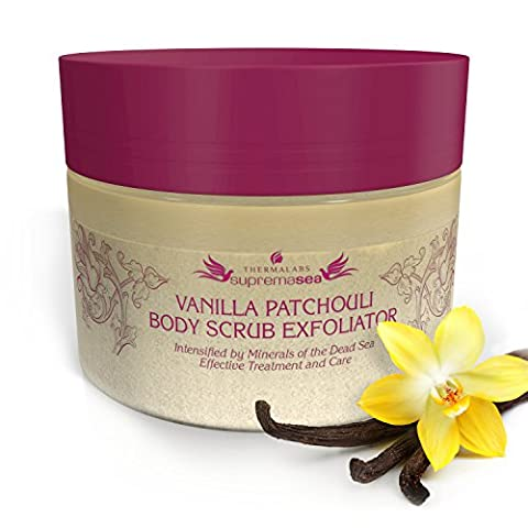 Salt & Oil Based Body Scrub Exfoliator Vanilla Patchouli: Get