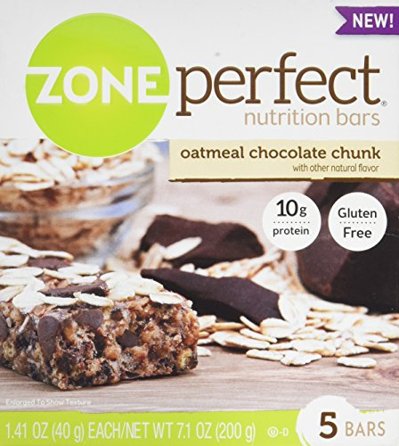 Zone Perfect Nutrition Bars, Oatmeal Chocolate Chunk, 1.41-Ounce, 5 ()