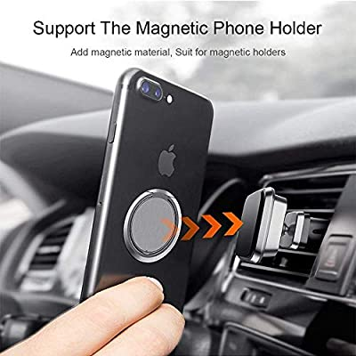 Sunwuun Phone Ring Holder,Magnetic Car Grip Mobile Stand for Ultra-Thin Phone Ring Frame for iPhone 11 Pro 8 Plus,Sony, Nexus (Black)