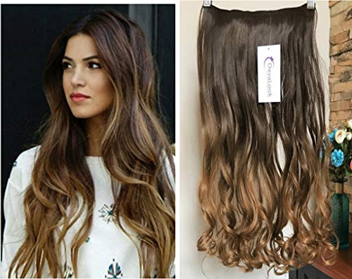 Uk Brown Clip In Hair Extensions Synthetic 1pc Thick Long Straight 3/4 Full Head Hair Care & Styling Hair Extensions & Wigs