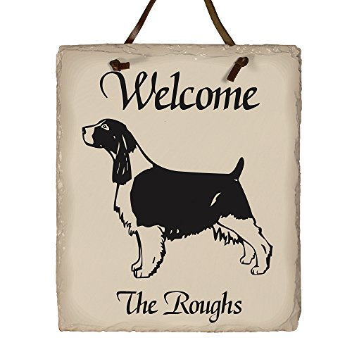 GiftsForYouNow Welcome Dog Breed Personalized Slate Plaque, English Springer Spaniel