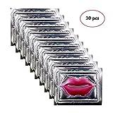 Genuva 30 Pack Pink Collagen Crystal Lip Masks Lip Plumper Masks Gel Patch