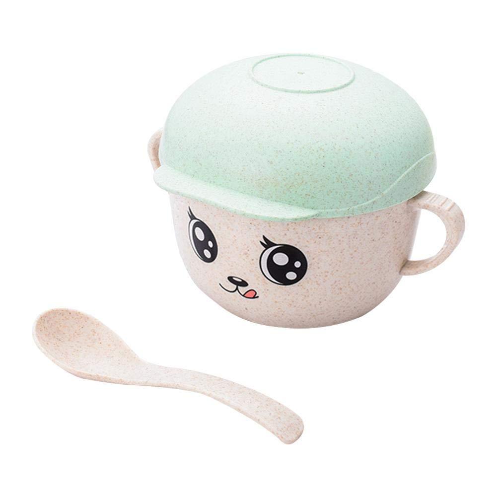 Praxis Antiverbr/ühschutz Shatter Feste Baby-Geschirr Bowl greatdaily Karikatur-Hut-Form Infant Feeding Geschirr Set Babyschale Mit Deckel Passende L/öffel
