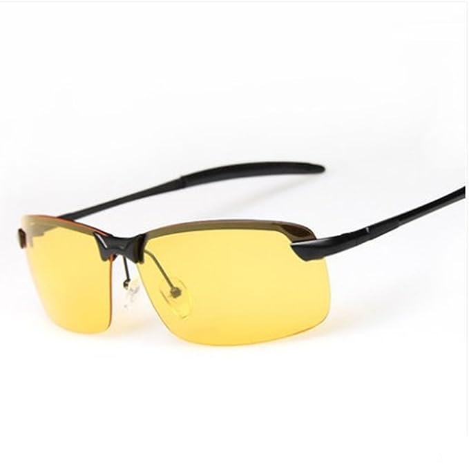 GOFIVE Gafas De Visión Nocturna Polarizadas Gafas De Conducción Para Hombres Gafas De Sol De Lente Amarilla (Negro): Amazon.es: Ropa y accesorios