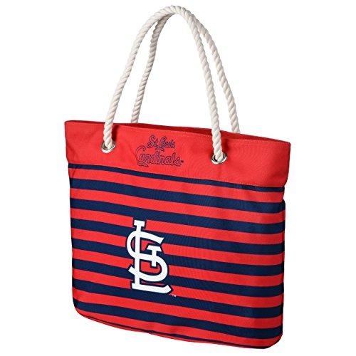 - St. Louis Cardinals Nautical Stripe Tote Bag