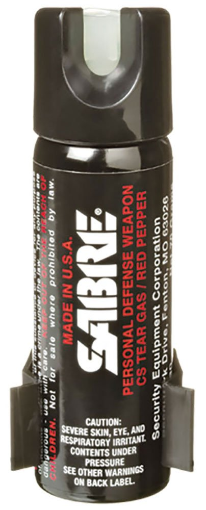SABRE 3-IN-1 Pepper Spray Home Defense Unit — Police Strength – w/ Glow-in-the-Dark Safety & Wall Mount Clip (2.2 oz)