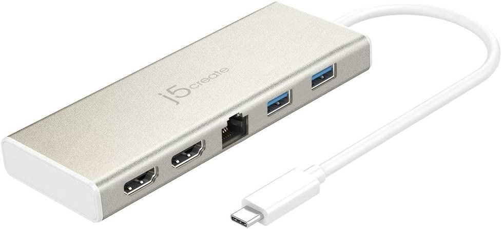 j5create JCD381 Mini Dock - Docking Station - USB - 2 x HDMI - GigE