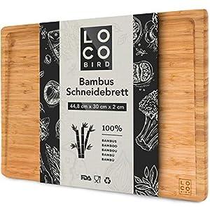 Loco Bird Tagliere in bamboo massiccio con scanalatura del succo - Tagliere Rettangolare di dimensioni 44,8x30x2 cm… 11