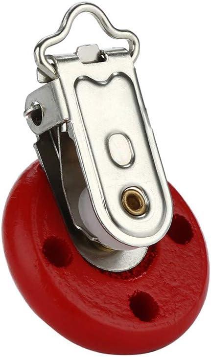 F Rameng Attache T/étine Bois Pince /à Sucette Clip Wooden Pacifier Chain Clip pour Bebe