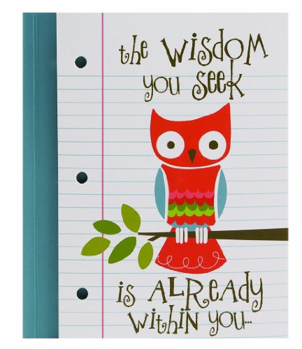 The Gift Wrap Company Pepper Pot Within You,  5.25 x 6-Inches Owl Journal, Magnetic Fold-Over Flap (Magnetic Flap Journal)
