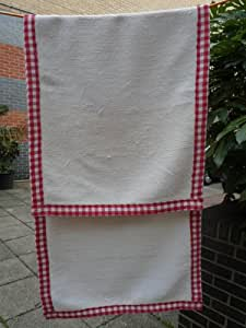 White Rag Rug From Recycled Cotton