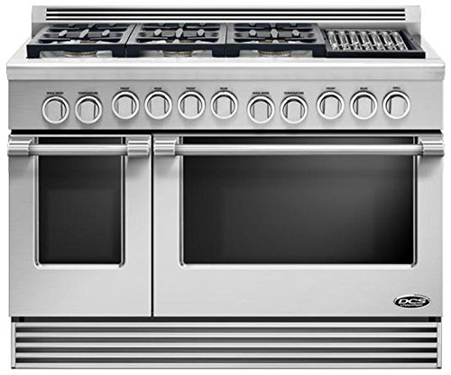 "Price comparison product image DCS RDV486GLN Professional 48"" Stainless Steel Dual Fuel Sealed Burner Double Oven Range - Convection"