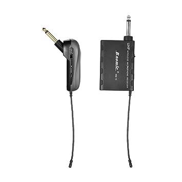 Ammoon baomic bm-12 a guitarra eléctrica UHF sistema de micrófono inalámbrico receptor y transmisor 630 - 690 MHz 16 canales: Amazon.es: Instrumentos ...