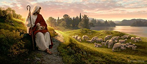 Dear to the Heart of the Shepherd - Canvas Giclee - Select a Size- (37.5''x16.5'') by Family Art