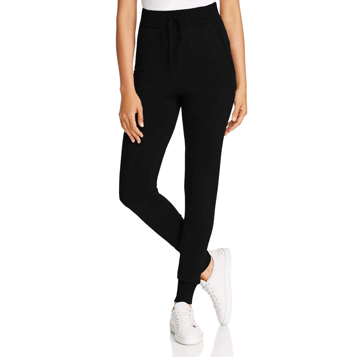 quality select for genuine get online Donna Karan Womens Merino Wool Knit Jogger Pants Black L at ...