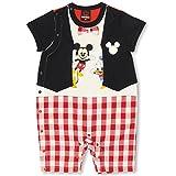 BABYDOLL(ベビードール) ディズニー ベスト風 なりきりのぞきみ半袖ロンパース 子供服 ベビー 80cm ミッキー