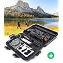 Emergency Survival Gear Kit, 10 in 1 Outdoor Survival Tool EDC with Fire Starter, Flashlight, Whistle, Compass for Camping Fishing Kit Travel Wild Adventure Earthquake Birthday Christmas Gift
