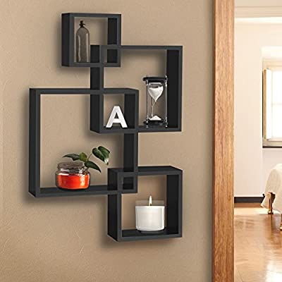 Shelf Wall Art BCP Intersecting Squares FloatingMounted Home Decor Furniture